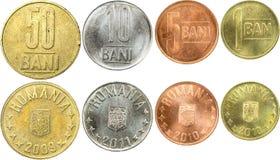 coins romanian fotografering för bildbyråer
