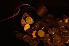 Coins of rupiah stock photos