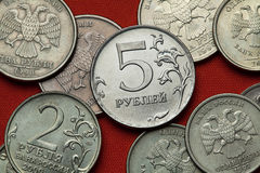 Coins of Russia Stock Photos