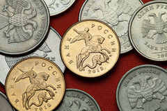 Coins of Russia. Saint George killing the Dragon Stock Photography