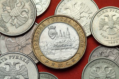 Coins of Russia.  Town of Ryazhsk Royalty Free Stock Images