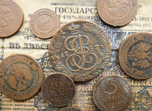 Coins of the Russian Empire Royalty Free Stock Photo