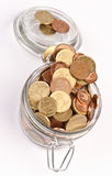 Coins saved Royalty Free Stock Photography