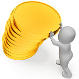Coins Savings Means Figures Save And Saver 3d Rendering Stock Images