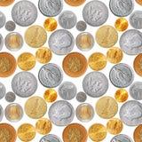 coins seamless Royaltyfria Foton