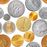 Coins seamless pattern Royalty Free Stock Photos