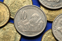 Coins of Serbia Royalty Free Stock Photography