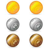 Coins set Royalty Free Stock Image