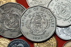 Coins of the Seychelles. Royalty Free Stock Photography