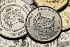 Coins of Singapore Royalty Free Stock Images