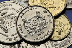 Coins of Singapore Stock Photos