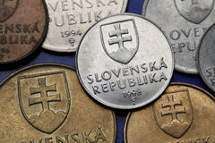 Coins of Slovakia Stock Images