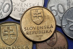 Coins of Slovakia Royalty Free Stock Image