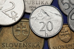 Coins of Slovakia Stock Photo