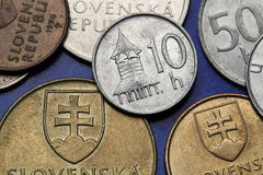 Coins of Slovakia Stock Photo