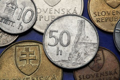 Coins of Slovakia Stock Image