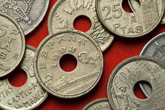 Coins of Spain. San Sebastian, Basque Country Royalty Free Stock Images