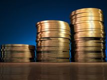 Coins stack Stock Image