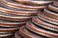 Coins stack Royalty Free Stock Images