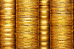 Coins stack background Royalty Free Stock Photos