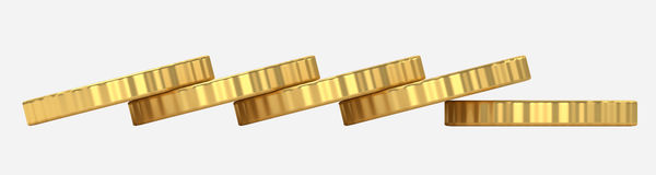 Coins stack 3d illustration Royalty Free Stock Photography
