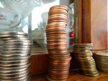 Coins stack Royalty Free Stock Photos