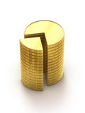 Coins stack graphic presentation Stock Images