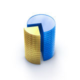 Coins stack graphic presentation Stock Photos