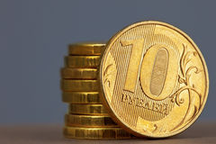 Coins in stack Stock Image