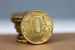 Coins in stack Royalty Free Stock Photo