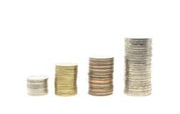 Coins stack Stock Photos