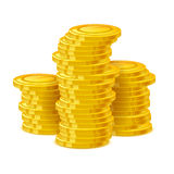 Coins stack vector illustration. Golden money cash. Stock Photography