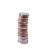 Coins stack on white background Stock Photography
