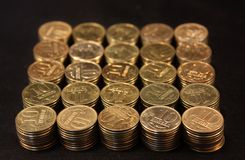 Coins stacked Royalty Free Stock Photo