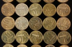 Coins stacked Royalty Free Stock Image