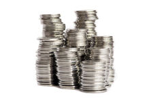 Coins stacks Stock Image