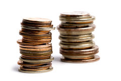 Coins stacks Stock Photography