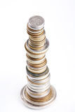 Coins stacks Royalty Free Stock Photo
