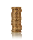 Coins stacks on white Stock Image