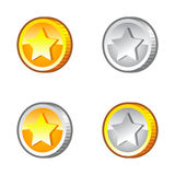 Coins with star Stock Images