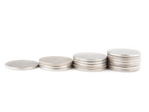 Coins Steps Stock Images