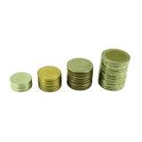 Coins Steps Thai Baht Stock Photo