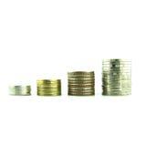 Coins Steps Thai Baht Stock Photos