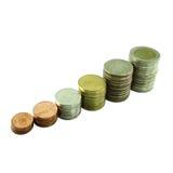 Coins Steps Thai Baht Royalty Free Stock Photos