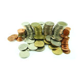 Coins Steps Thai Baht Royalty Free Stock Photography