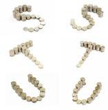 coins stilsort s t u Royaltyfria Bilder