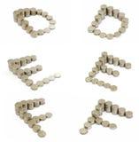 coins stilsorten för D e f Royaltyfria Foton