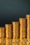 Coins success Royalty Free Stock Photos