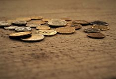 Coins on the table Royalty Free Stock Photo