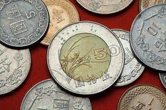 coins taiwan Arkivbild